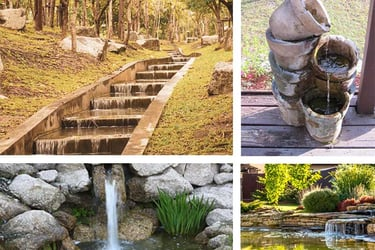 Garden waterfall ideas
