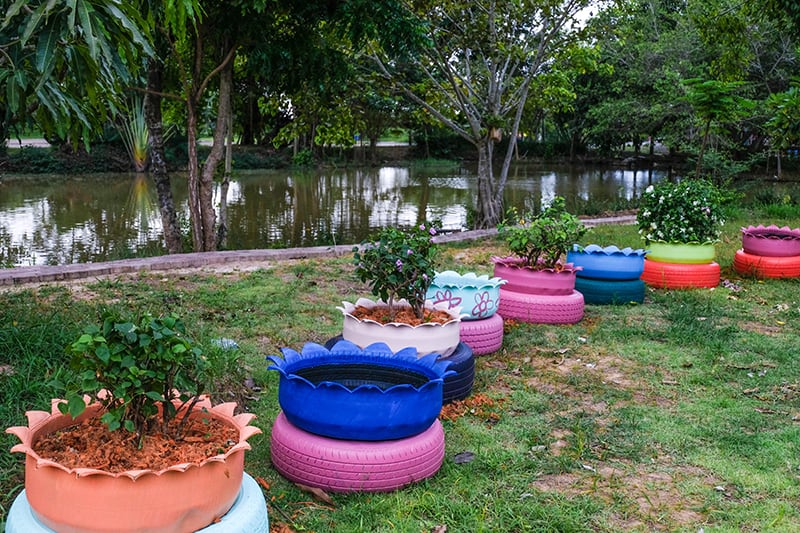 Tire Planter Garden