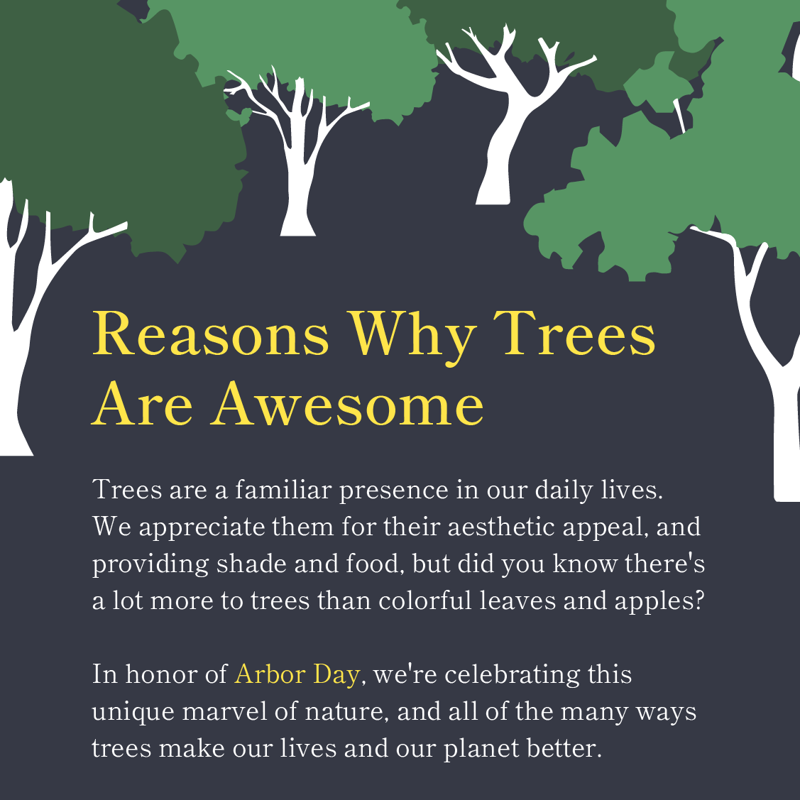 why trees are awesome 0