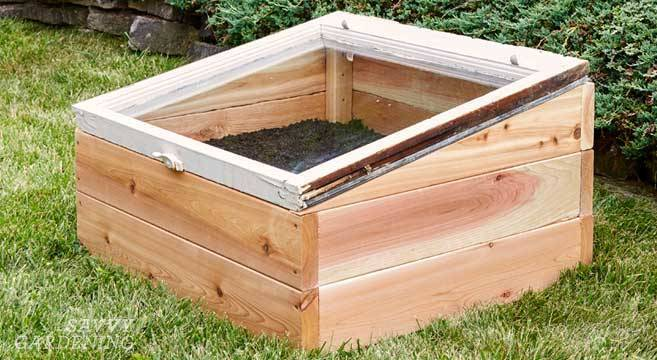 Old Windows Cold Frame Raised Bed