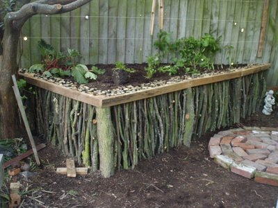 Wooden Stick Raised Bed