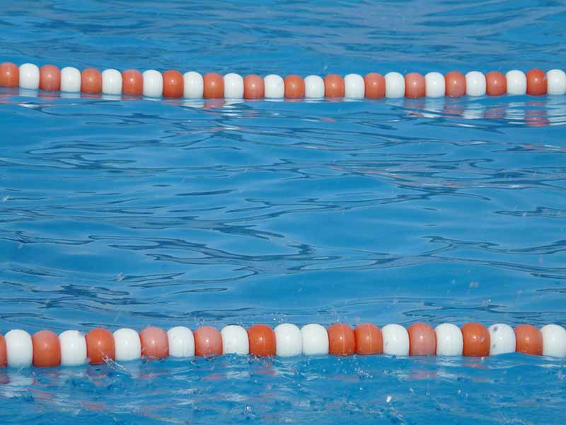 Chlorine in swimming pool