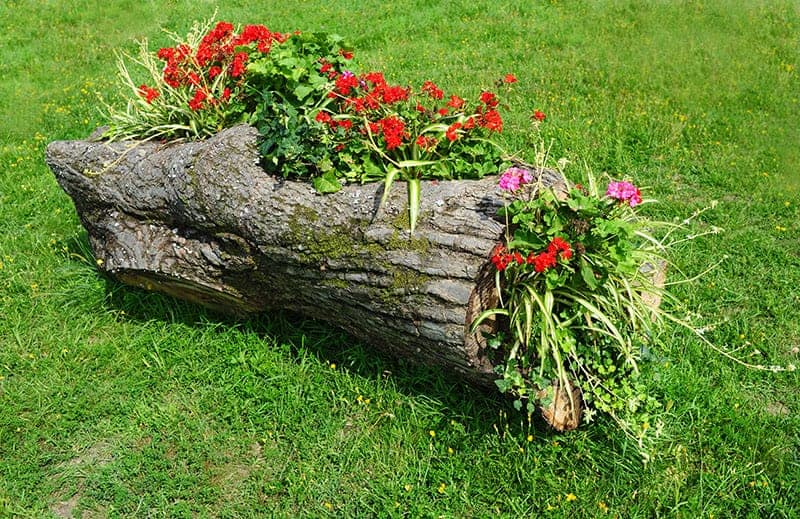 Wood Flower Bed