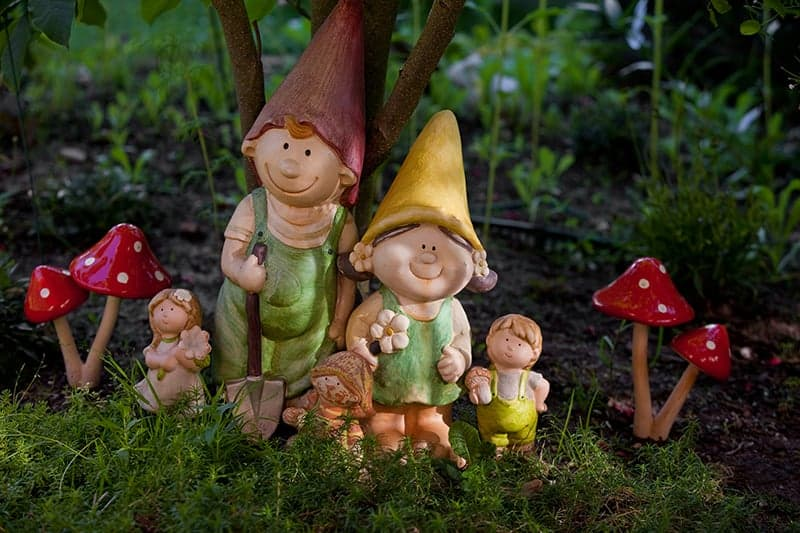 garden gnomes add great decoration to the garden and lawn
