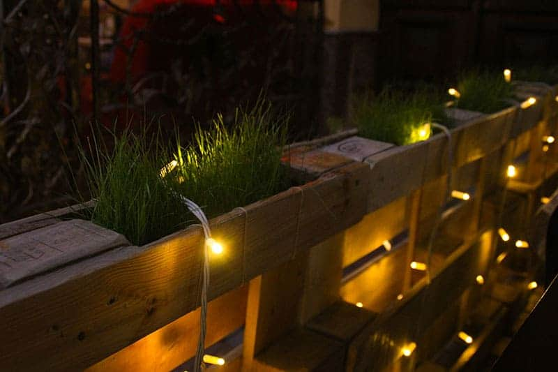 Decorative Plantable Fence Made From Pallets